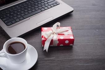 Notizblock Notizbuch rot Büro Weihnachten