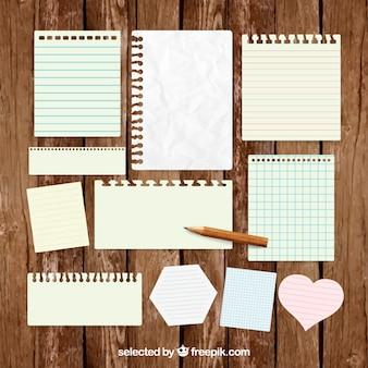 Notizen auf Papier zu verpacken