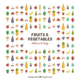 Obst und Gemüse Symbole