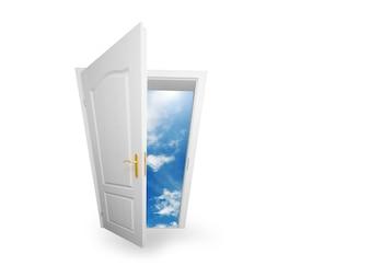 Offene Tür zu einer neuen Welt