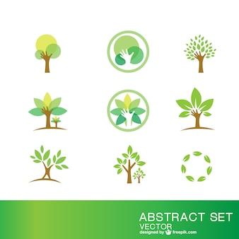 Ökologie Symbole gesetzt