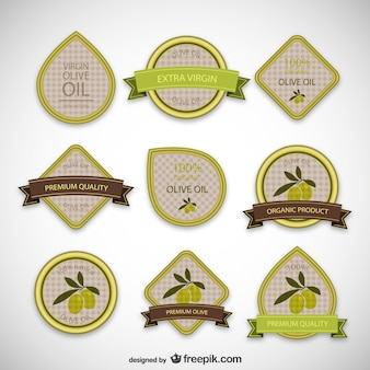 Olivenöl-Etiketten