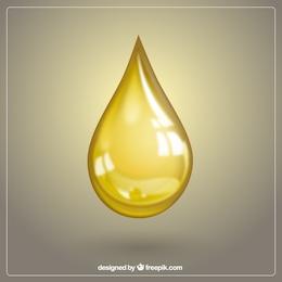 Olivenöltropfen