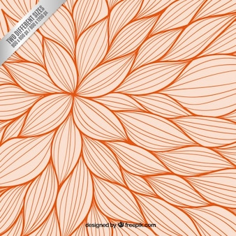 Orange Blumenhintergrund