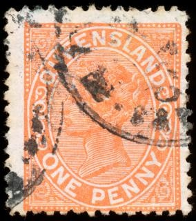 Orange queen victoria Stempel Korrespondenz