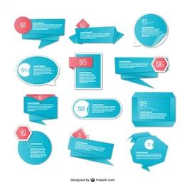 Origami bue Infografie Elemente