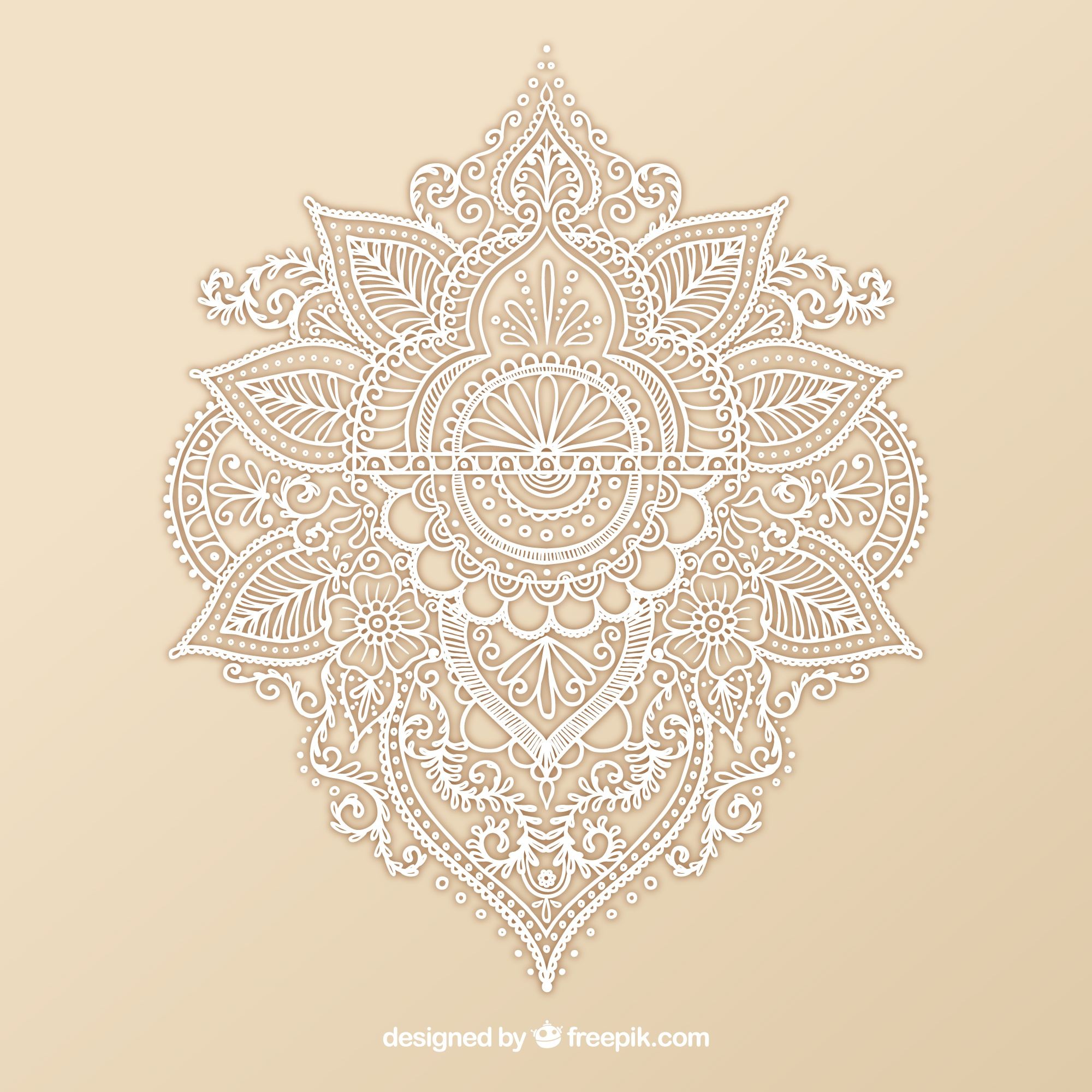 Ornamental Henna-Design