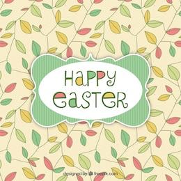 Ostern-Karte mit Blättern Hintergrund
