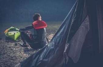 Outdoor Sportler Camping