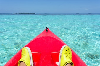 Paar gesunden Tourismus Wasser Strand