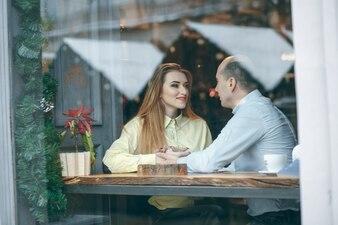 Paar im Cafe