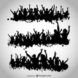 Partei Menschen Vektor-Design