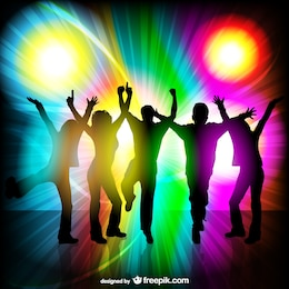 Party-People Disco Themen-Vektor