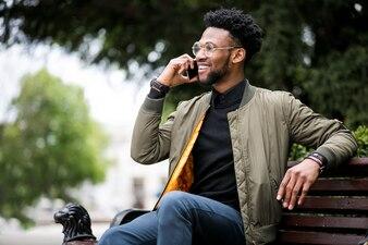 Person Afroamerikanischer Geschäftsmann Mann