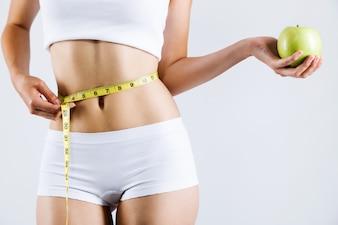 Person Form Bauch schlank