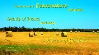 Pflanze Samen des Friedens