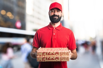 Pizza Lieferung Mann