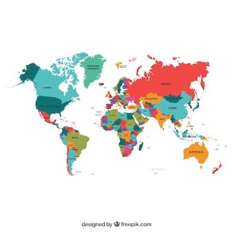 Politische Karte der Welt