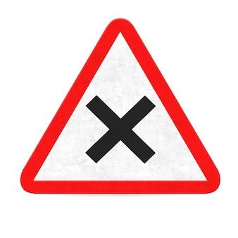 """""""Lone Straßenschild eine zeigt"""" """"X"""" """""""""""