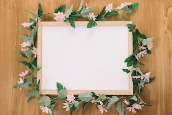 Rahmen verziert mit Rosen
