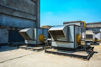 Rauchrohr in der Industrie Fabrik