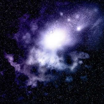 Raum Hintergrund mit Nebel und Sternhaufen
