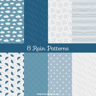 Regen Muster packen