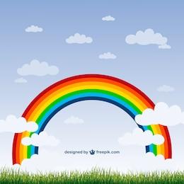Regenbogen-Natur Vektor