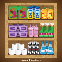 Reinigungsprodukte Supermarkt Vektor