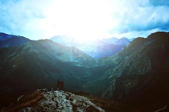 Reise und Natur in den Bergen.