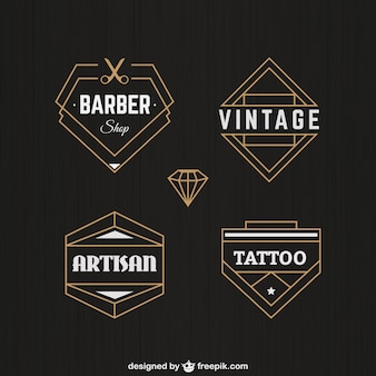 Retro Abzeichen in geometrische Gestaltung