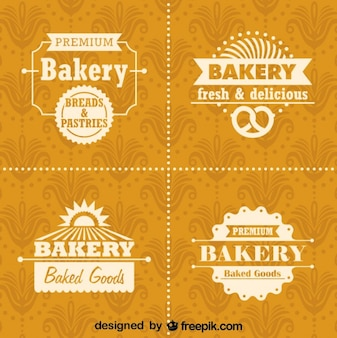 Retro Bäckerei Logos und Abzeichen eingestellt
