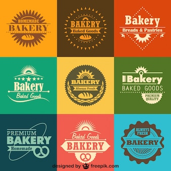 Retro Bäckerei Logos und Abzeichen Sammlung