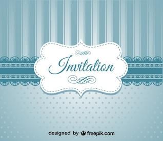 Retro blau elegante Einladung Design