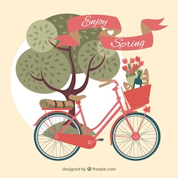 Retro Fahrrad zum Frühling
