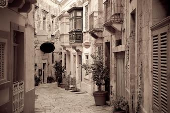 Retro Foto von ctreet in alten europäischen Stadt