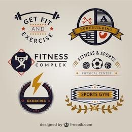 Retro Gym Logo-Vorlagen