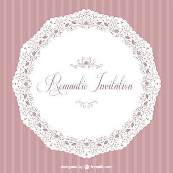 Retro romantischen vector Einladung