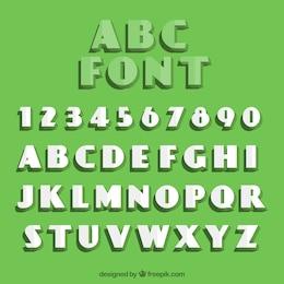 Retro Typografie mit Falten