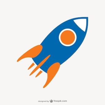 Rocket-Symbol Vektor-