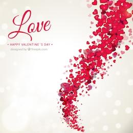 Romantisches Valentinstag Hintergrund