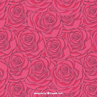 Rosen-Muster in rosa Ton