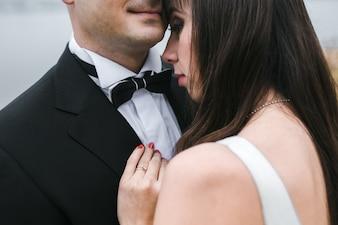 Sanftes Hochzeitspaar Bonding