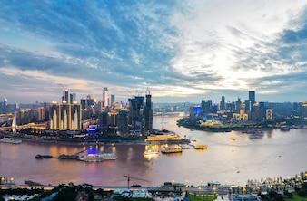 Schöne Stadtlandschaft, in Chongqing, China