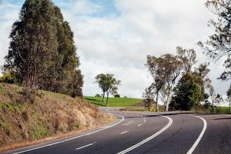 Schöne Straße in Australien. Princess Highway Straße.