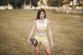 Schönes sportliches Mädchen