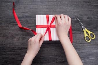 Schritt Umsatz Verpackung Einkaufen Winter
