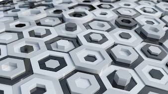 Schwarz-Weiß-Hexagone