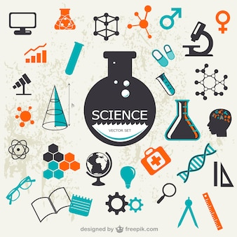 Wissenschaft Vektor-Set