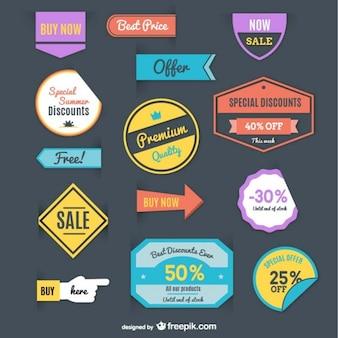 Einkaufen retro kostenlos Vektor-Label